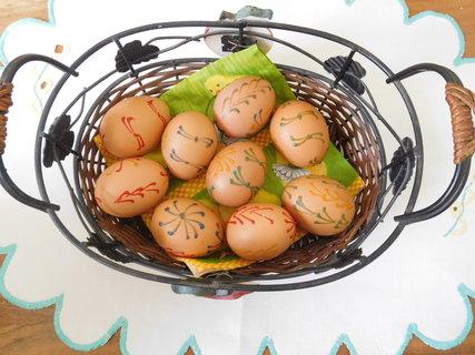 FOTKA - Vajíčka zdobená barevným voskem