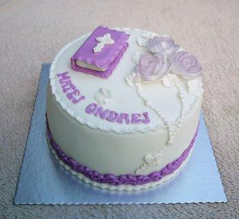 FOTKA - Torta na 1.sv.prijímanie -od našej známej cukrárky