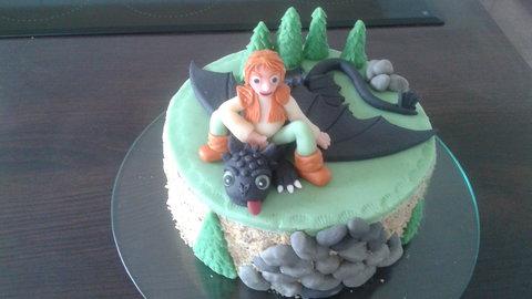 FOTKA - dort vnučce s drakem