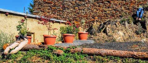 FOTKA - dvoje nohy na zahradě