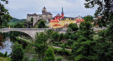 FOTKA - Město,  most a Ohře- Loket