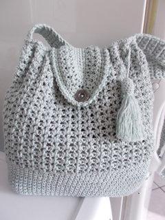 FOTKA - Velká háčkovaná taška... Soumrak nad strání.