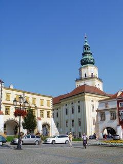 FOTKA - Kroměříž věž  zámku z nám.