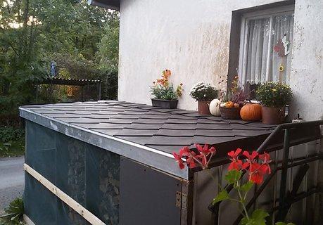 FOTKA - Podzimní výzdoba na dřevníku