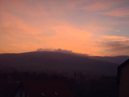 FOTKA - Podzimní západ slunce /Ještědský hřeben/