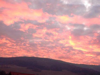 FOTKA - Listopadový západ slunce  /výhled z mého balkonu/