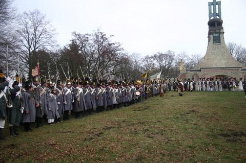 FOTKA - Bitva u Slavkova - nástup vojáků před Mohylou