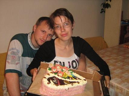 FOTKA - Já, můj přítel Martin a narozeninový dort