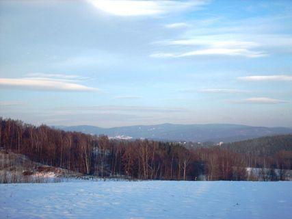FOTKA - Pohled na čast Liberce i Jizerské hory - prosinec 2008.