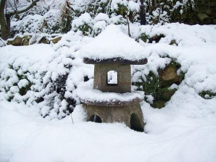 FOTKA - Zasněžený japonský domeček
