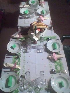 FOTKA - Stůl na mé jmeniny.Oslava rodinná.