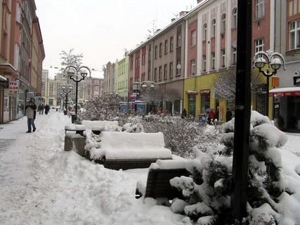 FOTKA - Zasněžená pěší zona