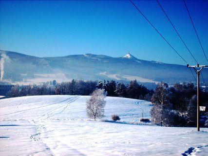 FOTKA - Pohled na  lednový Ještěd / 2009 / .