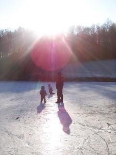 FOTKA - Na zamrzlém rybníku II