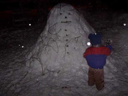 FOTKA - Stavíme sněhuláka