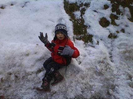 FOTKA - včerejší sníh a Barunka