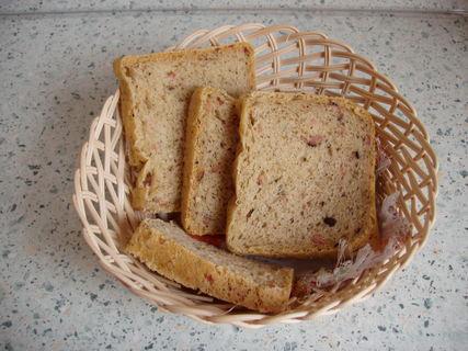 FOTKA - domácí tzv. Pizza chléb - se slaninou