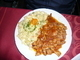 oběd-kuřecí nudličky s bramborovým salátem