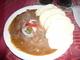oběd-gulášek s knedlíkem