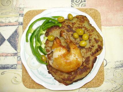 FOTKA - pečené kuře na bramboráku