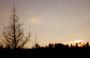 Zimní západ sluníčka