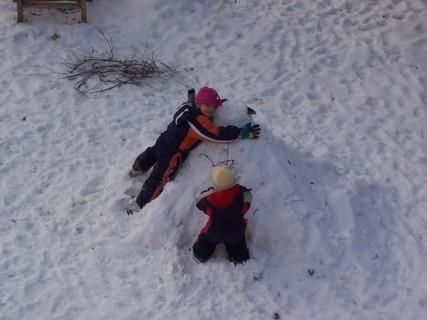 FOTKA - Se sněhulákem 1
