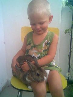 FOTKA - s králíčkem