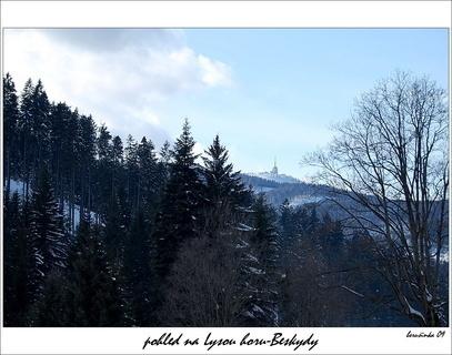 FOTKA - nejvy��� vrchol Beskyd-  pohled na Lysou horu