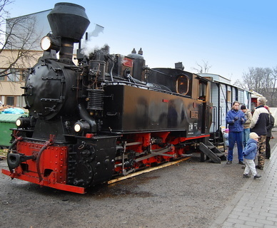 FOTKA - lokomotiva - �zkokolejka - RETRO