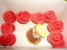 marcipánové růžičky na dort