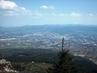 Výhled z Ještědu na severní   čast Liberca a Jizerské Hory - 10.4.2009.