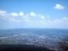 Výhled z Ještědu na centrum Liberce  - 10.4.2009.
