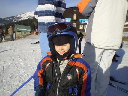 FOTKA - malý lyžař