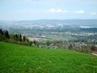 Výhled  z Ještědského hřebene na Minkovice/duben 2009/.