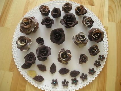 FOTKA - růže z čokolády