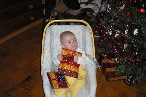 FOTKA - první vánoce 1