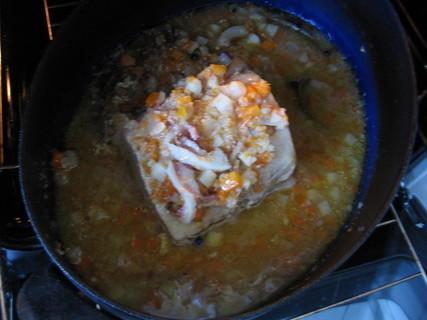 FOTKA - Dnešní oběd-a peču naloženou kotletu jako svíčkovou