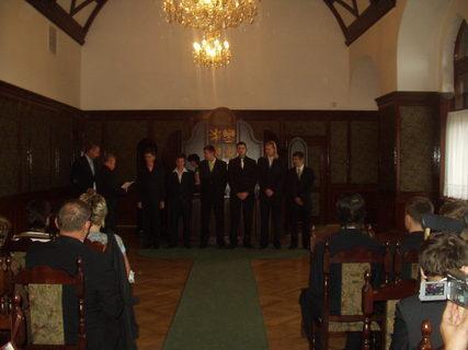 FOTKA - Slavnostní předávání maturitního vysvědčení.