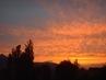 Západ slunce za  Ještědem v Liberci - 19.6.2009.