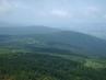 Výhled z vrcholu Ještědu na  hřebeny Lužických hor , 26.6.2009.
