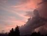 Západ slunce  u Ještědu a blížící se bouřka, 29.6.2009