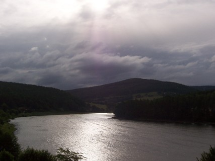 FOTKA - Stmívání nad přehradou