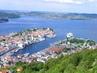 Pohled na část města Bergen, Norsko