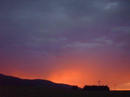 FOTKA - 23.7.2009- západ slunce po bouřce v Liberci, serie.