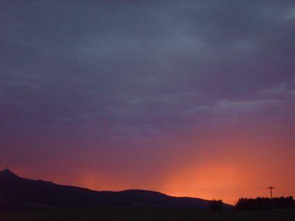 FOTKA - Serie- západ slunce v Liberci po dnešní prudké bouřce, 23,7.2009