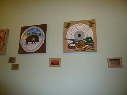 FOTKA - dekorace na zdi na naší chalupě