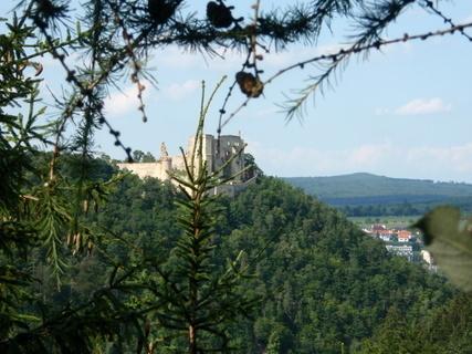 FOTKA - hrad Boskovice za stromky