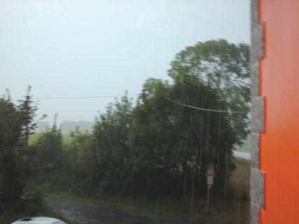 FOTKA - Výhled z okna  na déštˇ - 17.8.2009.