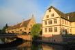 ráno na kanále ve Štrasburku