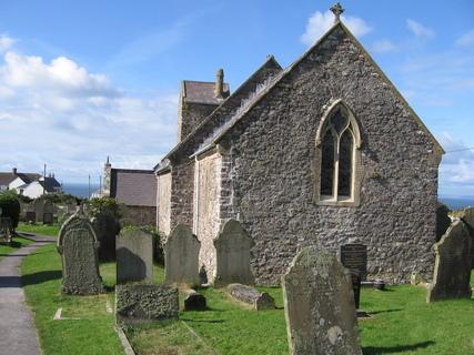 FOTKA - Rhosilli - kostelík s hřbitovem